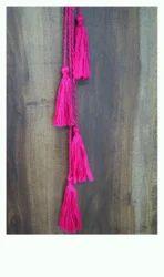 Pink Cotton Decorative Handmade Tassels