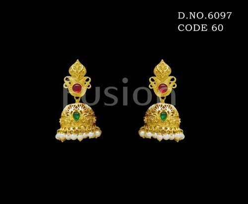 a656fd03d Wedding And Festival Girls And Women Traditional Matt Polish Jhumka Earring
