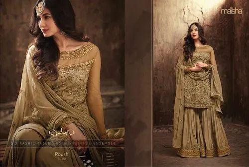 b9ecd8720d Pakistani New Style Dresses - Salwar Kameez - Net Embroidery Work ...