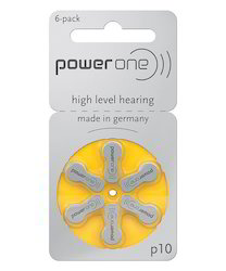 P10 Power One Zinc Air Hearing Aid Batteries