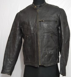 Black Leather Gents Jacket