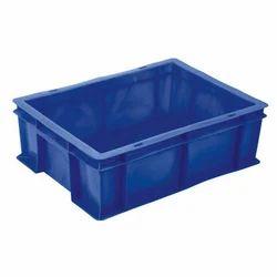 Rectangular Blue 8L Plastic Industrial Crate, Capacity: 8 Litres