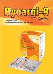 L-Arginine 3gm  Proanthocyanidin(90%) 75mg