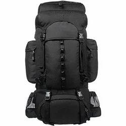 Black Plain Backpack Bag