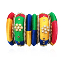 Jewelemarket Multicolor Silk Thread Bangles Set