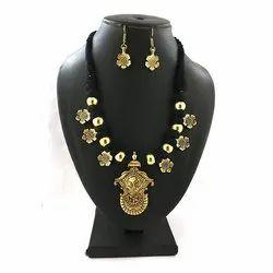 Oxidized German Silver Thread Necklaces Set