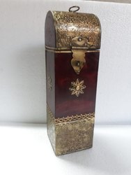 Wooden Box With Metal Fitted