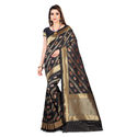 Black Jacquard Sarees With Blouse Piece, Saree Length: 6.3 M