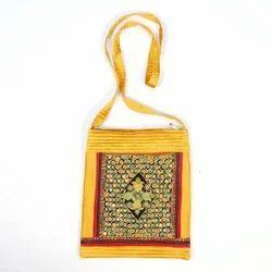 Yellow Handicraft Sling Bag