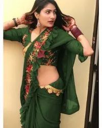Heavy georgette indian wear saree