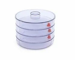 Plastic 4 Compartment Sprout Maker, White