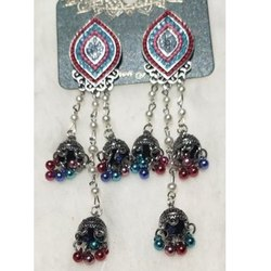 Multicolor Zinc Ladies Artificial Imitation Earring