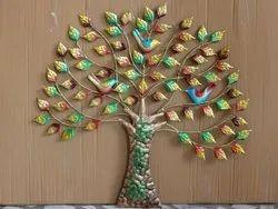 Craftkriti 32 inch Metal Leaf Tree Wall Decor