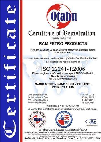 Ram Petro Products, Chennai - Manufacturer of Smartblue AUS 32 DEF