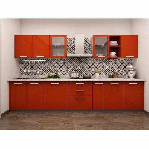 Laminated Modular Kitchen At Rs 1400 Square Feet: Straight Modular Kitchen