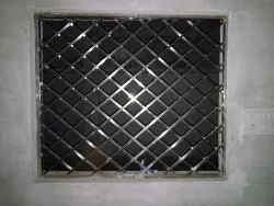 Interior Silver Stainless Steel Window Grill, Material Grade: SS304