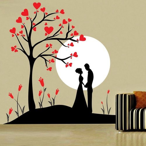 multicolor 63 x 68 cm decor kafe home decor couple under tree wall rh indiamart com bedroom wall art decor bedroom wall art quotes