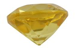 Yellow  Glass Citrine Gemstone