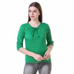 Ladies Green Cotton Tops