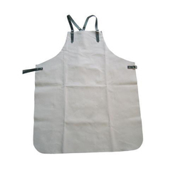 White Industrial Leather Apron