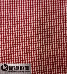 Fancy Red Check Uniform Fabric