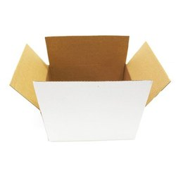 White Packaging Corrugated Box 9 x 7.5 x 4.5 Inch