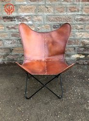 Woavin Industrial, Commercial, Comfortable, Iconic , Living Area, Indoor, Leather Iron Butterfly Chair