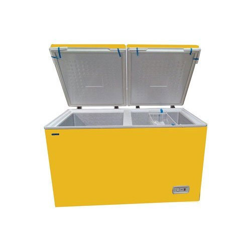 Blue Star Yellow Double Door Bottle Cooler, Size: 300ltr To 500ltr