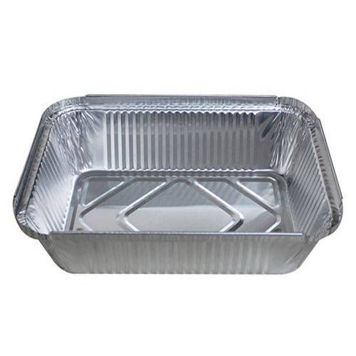 Rectangle Aluminum Foil Containers, Thickness: 2-6 Mm
