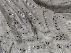 Pure Georgette Embroideries Fabric