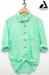 Twill Cotton Solids Plain Shirt