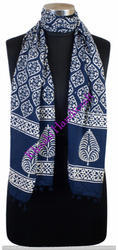 Block Print Indigo Blue Cotton Stoles