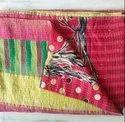 Pink Vintage Kantha Quilt