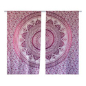 Ombre Hippies Tapestry Curtains