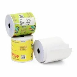 PULP 2 Ply Carbonless Thermal Paper Rolls. Width: 74 - 80 mm. Dia: 74 mm