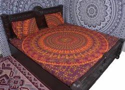 Cricle Of Elephant Mandala Duvet Cover