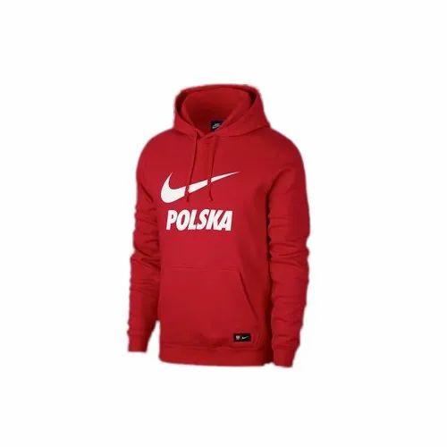 Mens Nylon Red Sweatshirts