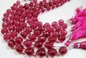 Rubellite Pink Quartz Heart Shape Beads