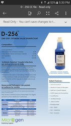 D -256 disinfectant