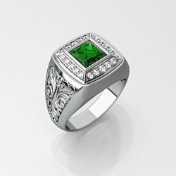 Wedding Mens Silver Ring