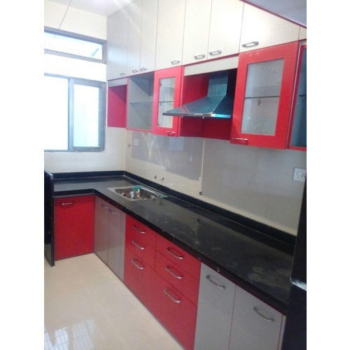 Wooden Modular Kitchen Furniture At Rs
