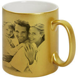 PNX Sublimation Golden and Silver Mug, For Home