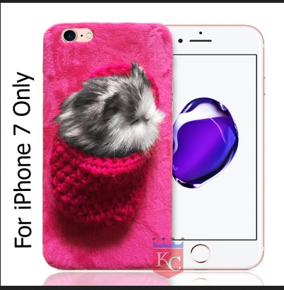 info for bb505 4ef9a Soft Fluffy Microfiber Fluffy Cat Handmade Fur Back Cover For Iphone 7 Pink