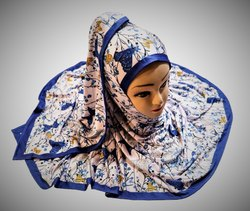 Women's Occasion Wear Jersey Stretchable Material Printed Hijab Scarf Dupatta
