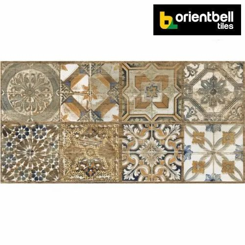 Orientbell Tiles Orientbell ODH FLORENCE HL Glazed Vitrified Wall Tiles, Size: 300X600 mm