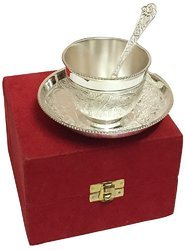 Designer Silver Plated Tea Cup