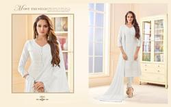 Avc White Series 1001-1004 Stylish Party Wear Cotton Suit