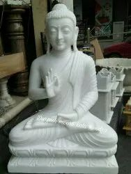 Jaipurcrafts Multicolor White Marble Buddha Statue, Packaging Type: Wooden Box, Size/Dimension: 9-84 inch