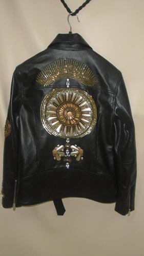 Caliber Apparels Black Hand Worked Leather Jacket