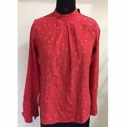 Ladies Red Printed Top